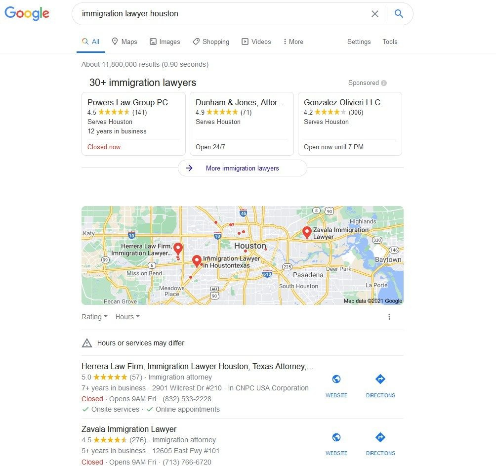 Immigration Lawyer Houston Local SEO